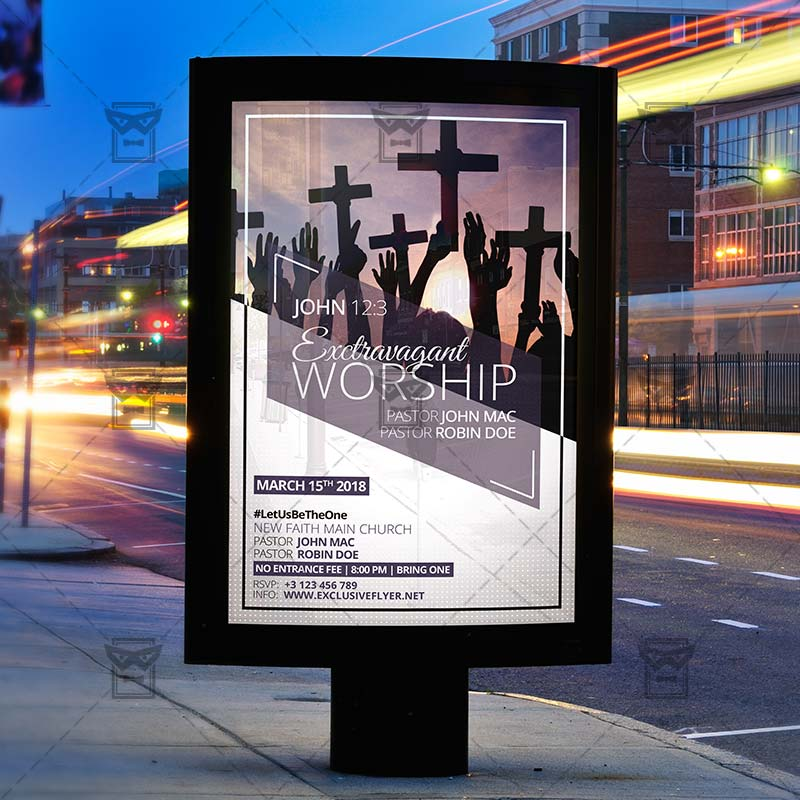 Download Extravaganza Worship PSD Flyer Template Now