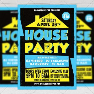 Download House Party PSD Flyer Template Now