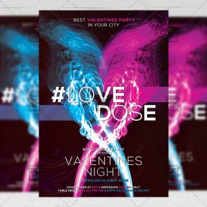 Download Love Dose PSD Flyer Template Now