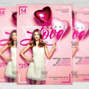 Download Love Night PSD Flyer Template Now