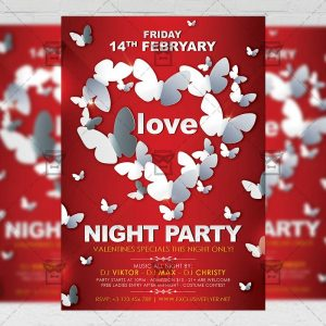 Download Love Night Party PSD Flyer Template Now