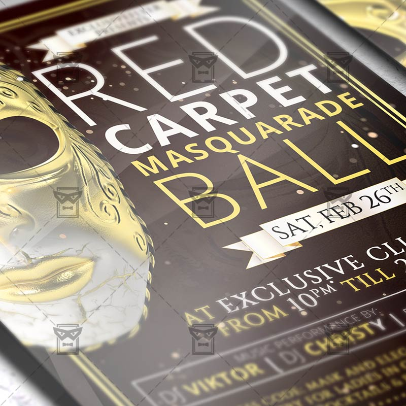 Download Masquerade Ball PSD Flyer Template Now