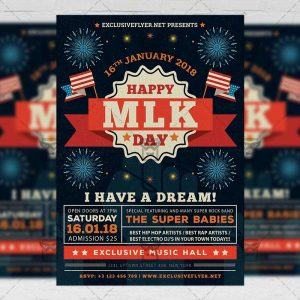 Download MLK Day Celebration PSD Flyer Template Now