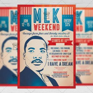 Download MLK Weekend PSD Flyer Template Now