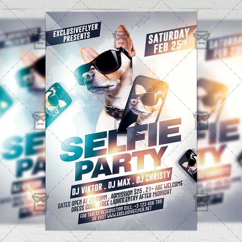 15 Excellent Flyer Templates For Your Next Event: Selfie Party €� Club A5 Flyer Template