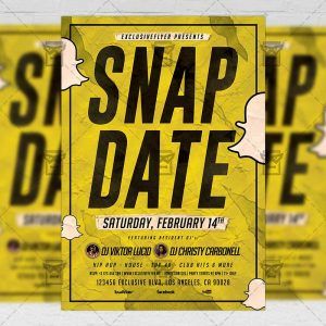 Download Snap Date Night PSD Flyer Template Now