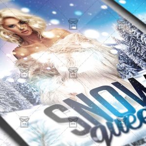 Download Snow Queen PSD Flyer Template Now