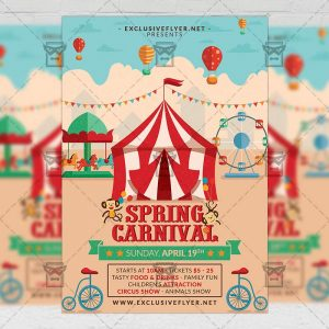 Download Spring Carnival PSD Flyer Template Now
