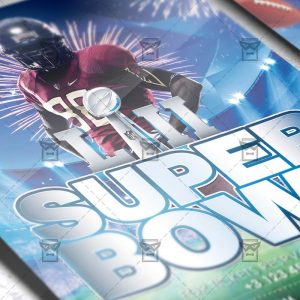Download Super Bowl PSD Flyer Template Now