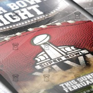 Download Super Bowl Game PSD Flyer Template Now