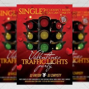 Download Traffic Lights Party PSD Flyer Template Now