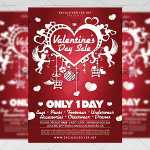 Download Valentine's Day Sale PSD Flyer Template Now