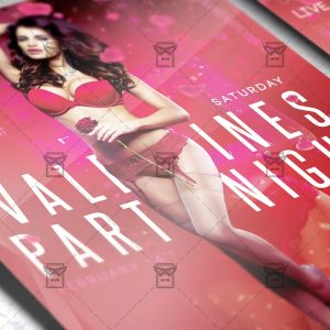 Download Valentines Party Night PSD Flyer Template Now