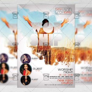Download Worship Night PSD Flyer Template Now