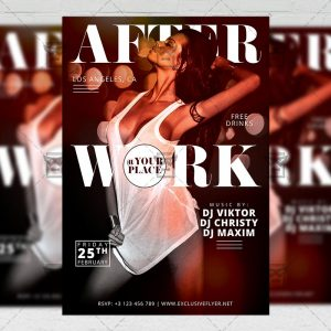 Download After Work Party PSD Flyer Template Now