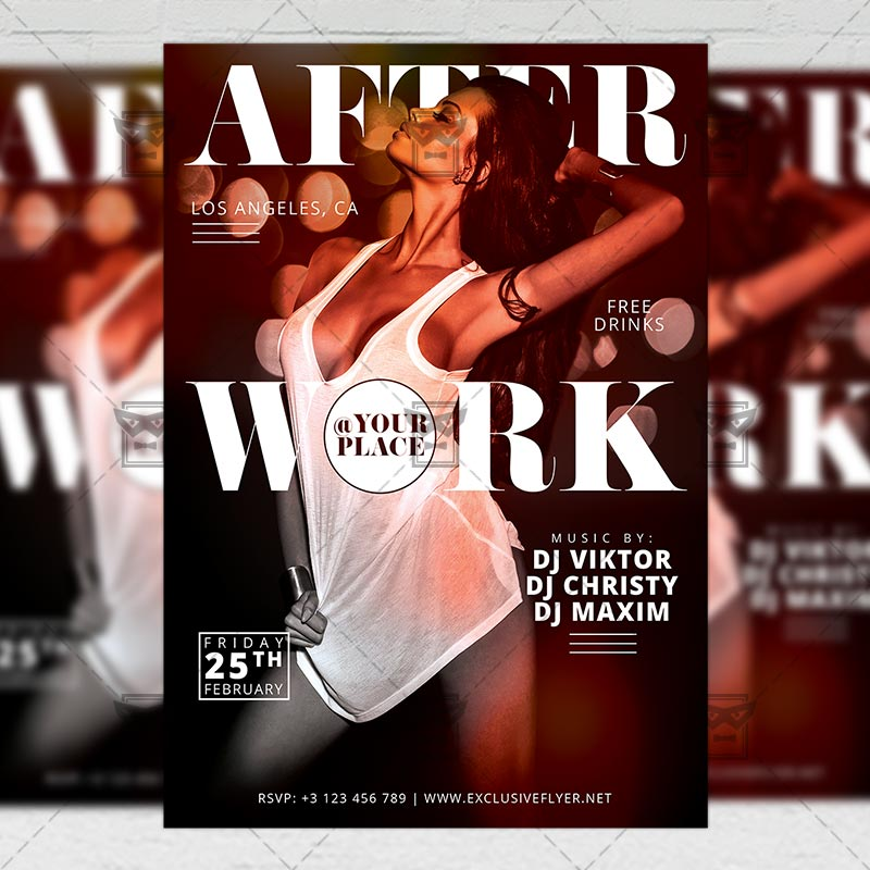 after work party club a5 flyer template exclsiveflyer free and