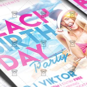 Download Birthday On The Beach PSD Flyer Template Now