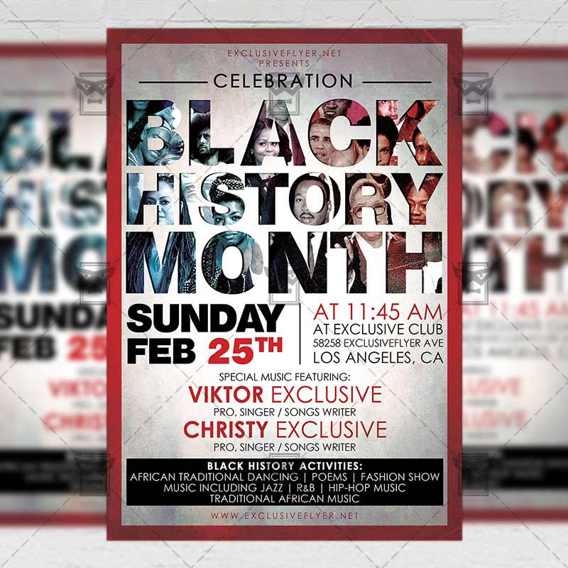 Black History Month Community A5 Flyer Template Exclsiveflyer