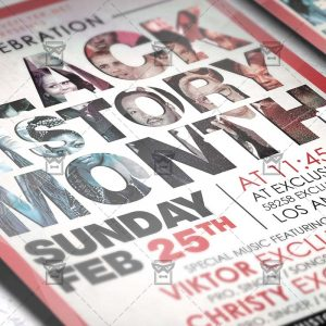 Download Black History Month PSD Flyer Template Now