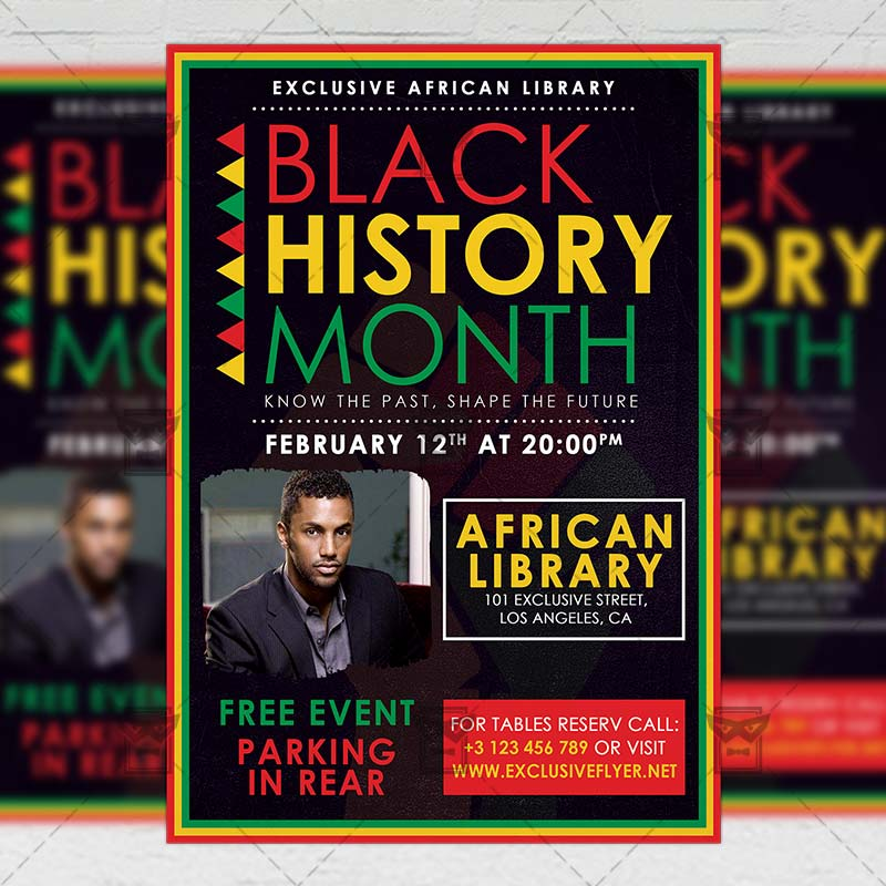 black history month event community a5 flyer template