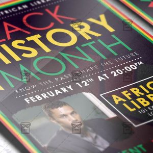 Download Black History Month Event PSD Flyer Template Now