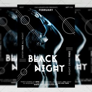 Download Black Night PSD Flyer Template Now