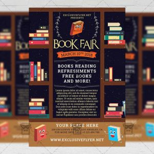 Download Book Fair PSD Flyer Template Now