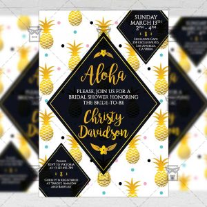 Download Bridal Shower PSD Invitation Card Template Now