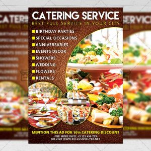 Catering service food a5 flyer template exclsiveflyer free and download catering psd flyer template now saigontimesfo