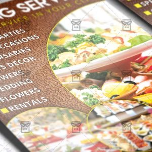 Download Catering PSD Flyer Template Now
