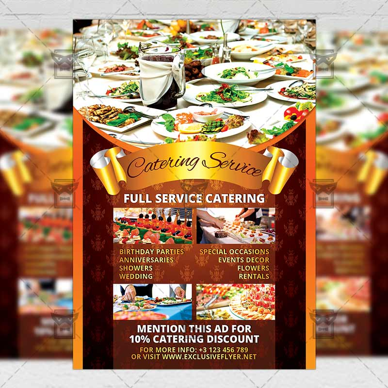 catering service food a5 flyer template exclsiveflyer free and