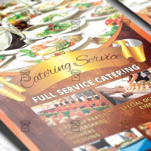 Download Catering Service PSD Flyer Template Now