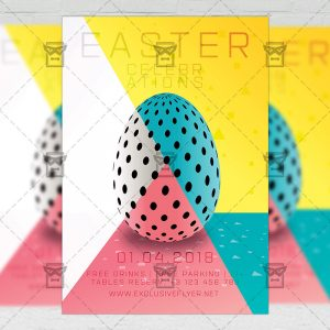 Download Easter Celebration PSD Flyer Template Now