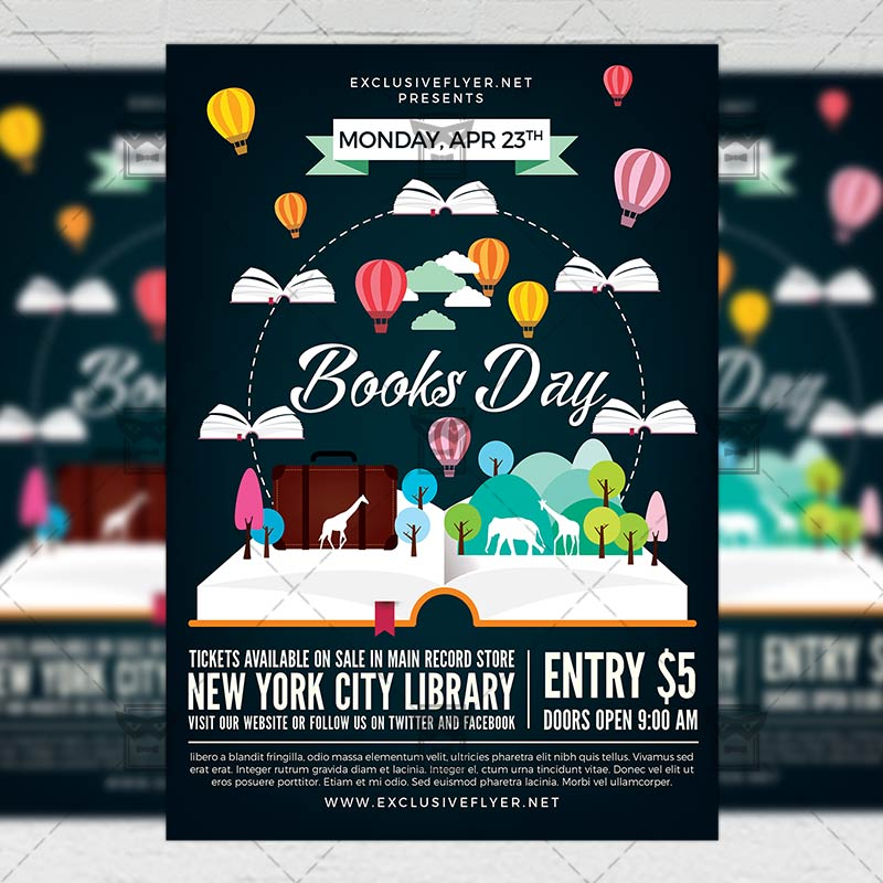 happy book day community a5 flyer template exclsiveflyer free