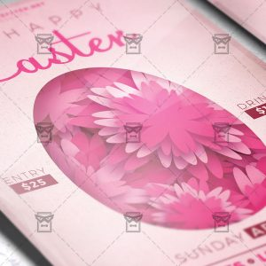 Download Happy Easter PSD Flyer Template Now