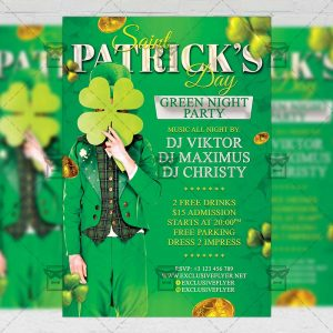 Download Happy St. Patricks Day PSD Flyer Template Now
