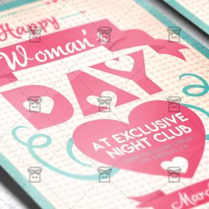 Download Happy Woman's Day PSD Flyer Template Now