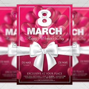 Download Happy Woman's Day Celebration PSD Flyer Template Now