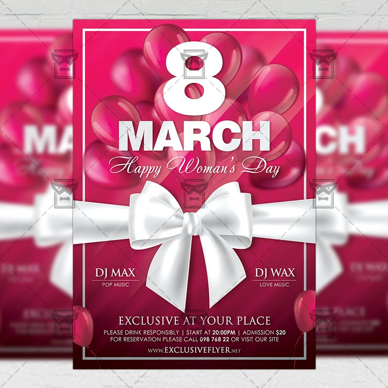 Mom Day Sale Ͽ� Seasonal A5 Flyer Template: Happy Woman's Day Celebration