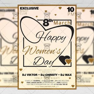 Download Happy Women's Day PSD Flyer Template Now