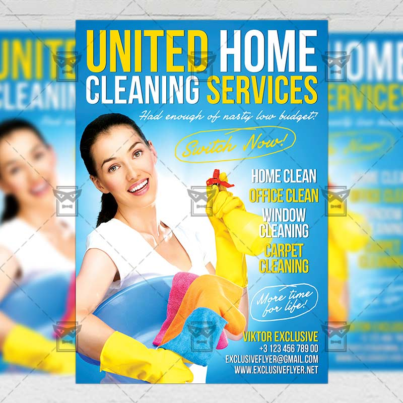 House Cleaning Service Business A5 Flyer Template Exclsiveflyer