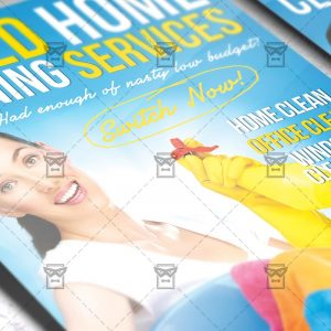 Download House Cleaning Service PSD Flyer Template Now