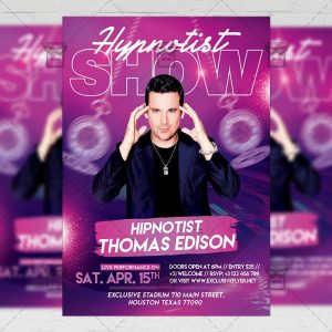 Download Hypnotist Show PSD Flyer Template Now