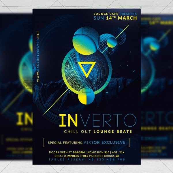 Download Lounge Beats PSD Flyer Template Now