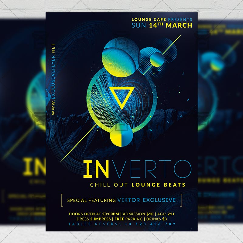 Lounge Flyer Template | Lounge Beats Club A5 Flyer Template Exclsiveflyer Free And