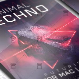 Download Minimal Techno PSD Flyer Template Now