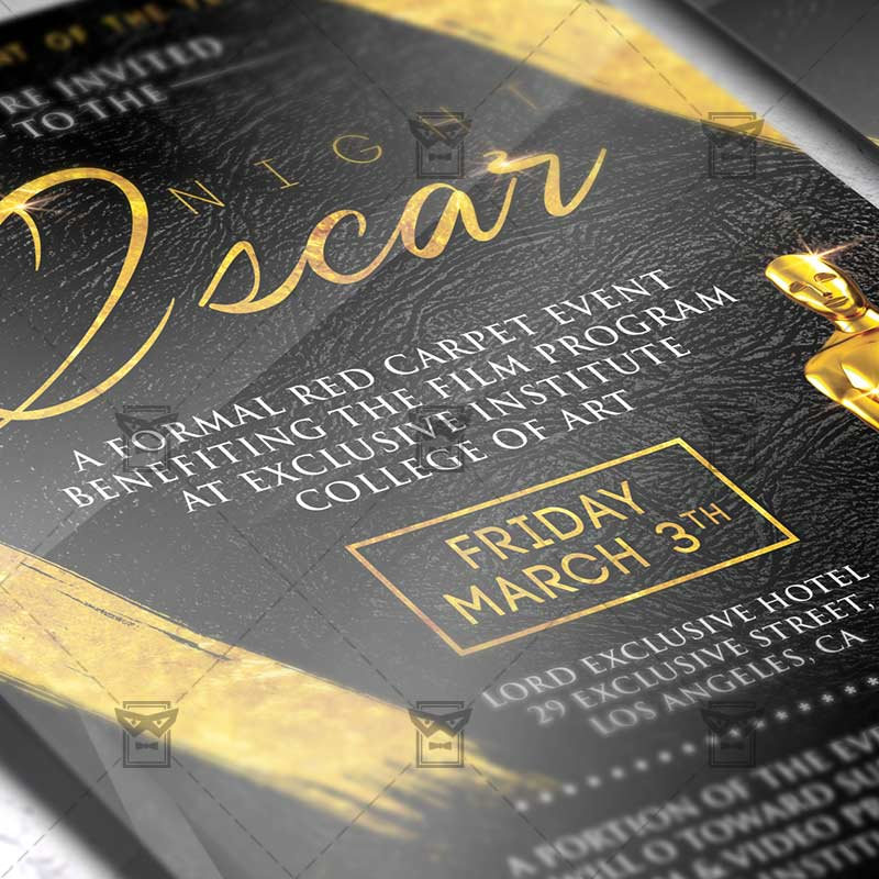 Download Oscar Night PSD Flyer Template Now