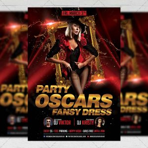 Download Oscars Fancy Dress Party PSD Flyer Template Now
