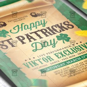 Download Patricks Day Celebration PSD Flyer Template Now