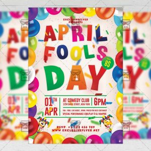 Download April Fool's Day Celebration PSD Flyer Template Now